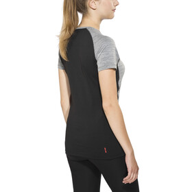 Salewa Pedroc Dry - Camiseta manga corta Mujer - gris/negro